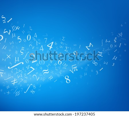 blue background with numbers