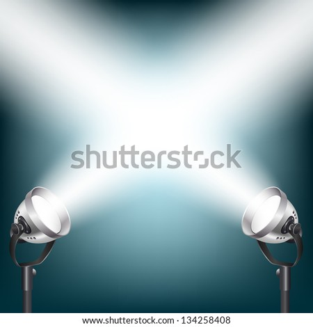 blue background with spot lights