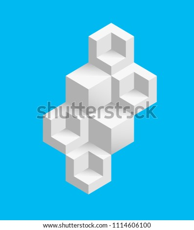 blue background with white