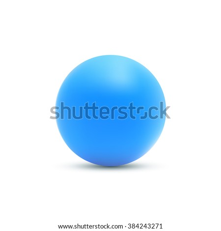 blue ball blue sphere vector