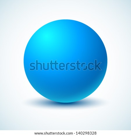 blue ball vector illustration