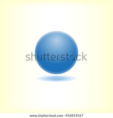blue ball  vector illustration