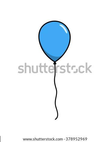 blue balloon  a hand drawn