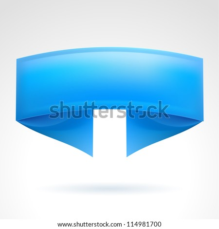 Blue Banner. Illustration on white background for design