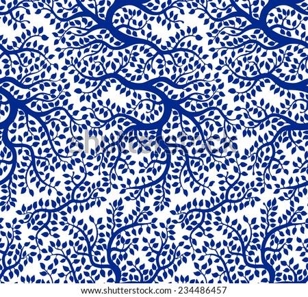 blue beautiful vector tree