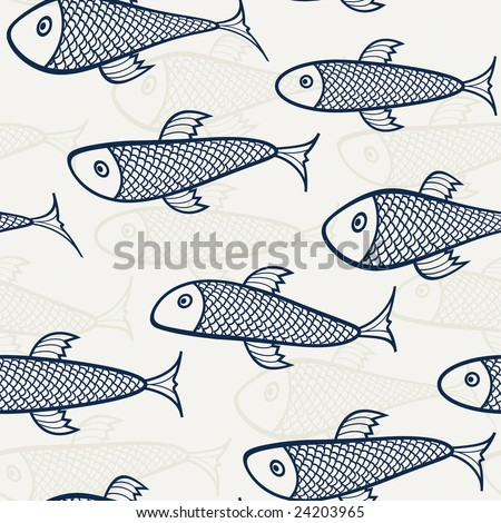 blue - beige pattern from fish