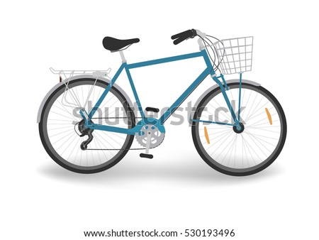 blue bicycle with basket bike