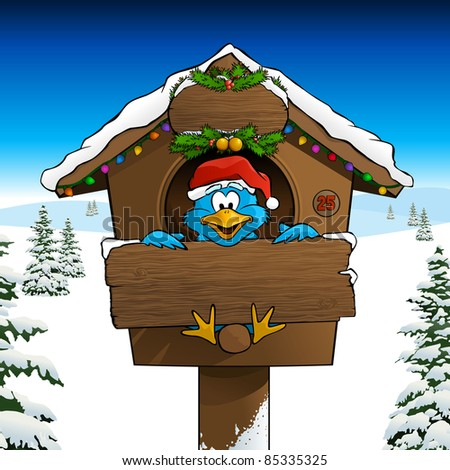 Blue Bird Merry Twitmas Card