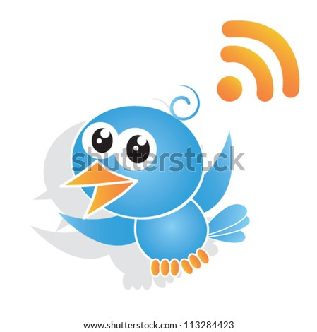 blue bird vector illustration