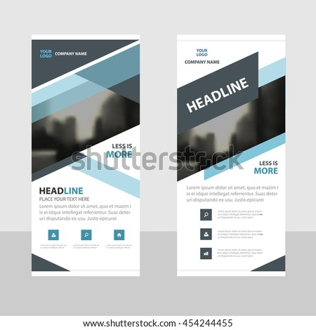 Blue black abstract Business Roll Up Banner flat design template ,Abstract Geometric banner template Vector illustration set, abstract presentation brochure flyer template vertical template vector #454244455