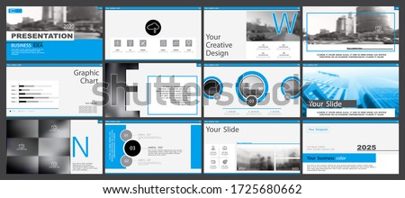 Blue black, elements for business infographics on a white background Set of presentation templates. Use in presentations, leaflet, flyer, corporate report, marketing, advertising annual report, banner
