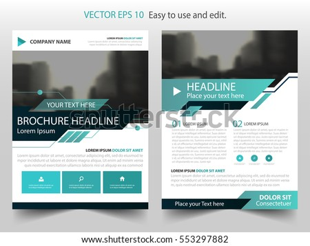 Vector Brochure Flyer Design Layout Template In A Size  Download