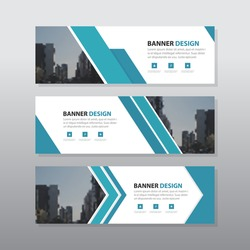 Blue black triangle abstract corporate business banner template, horizontal advertising business banner layout template flat design set , clean abstract cover header background for website design,