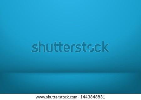blue blank studio background