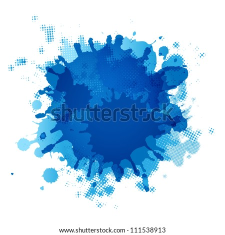 Blue Blob, Isolated On White Background, Vector Illustration