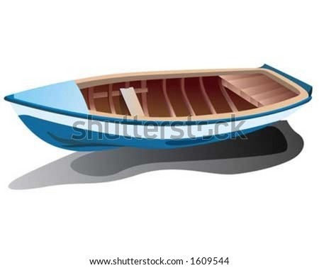 blue boat on sands