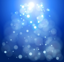 blue bokeh abstract light background. Vector illustration