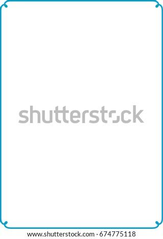 Blue border frame vector vintage #674775118