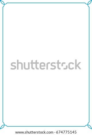 Blue border frame vector vintage #674775145