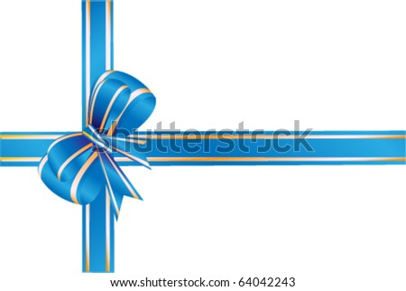 Blue bow, ribbon