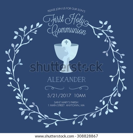 First Communion Invitation Background Download Free Vector Art