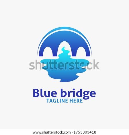 blue bridge logo design