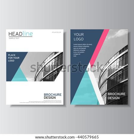 blue brochure design  annual