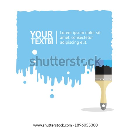 blue brush background with place your text