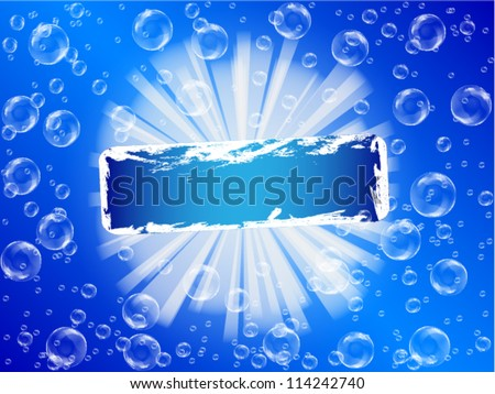 Blue Bubble Theme with place for your text