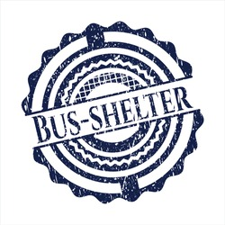Blue Bus-shelter distress rubber seal.
