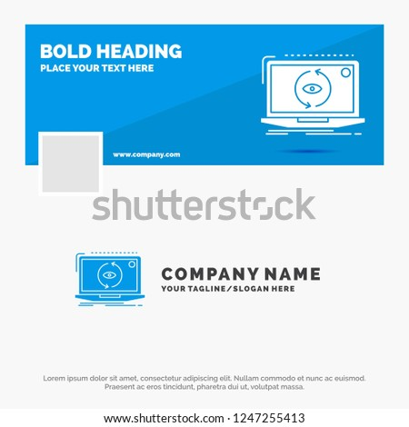 Blue Business Logo Template for App, application, new, software, update. Facebook Timeline Banner Design. vector web banner background illustration