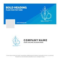 Blue Business Logo Template for Idea, insight, key, lamp, lightbulb. Facebook Timeline Banner Design. vector web banner background illustration