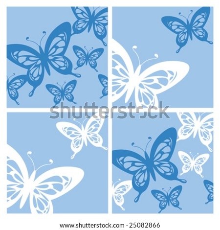 wallpaper blue butterfly. stock vector : Blue Butterfly
