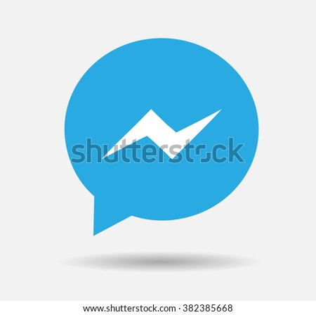 blue button facebook messenger
