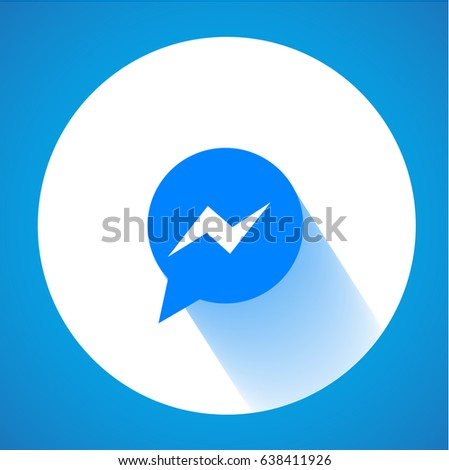 blue button icon vector