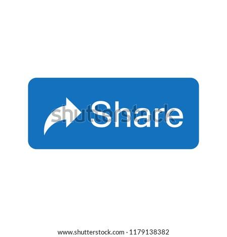 Blue button share icon.