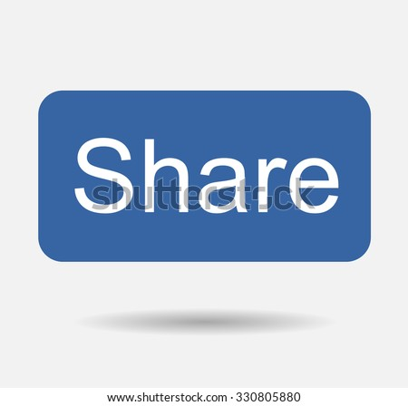Blue Button Share Icon