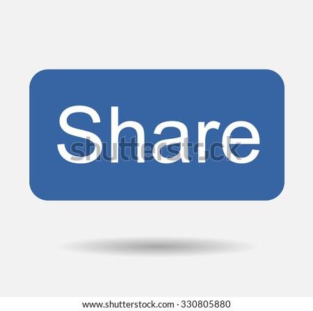Blue Button Share Icon