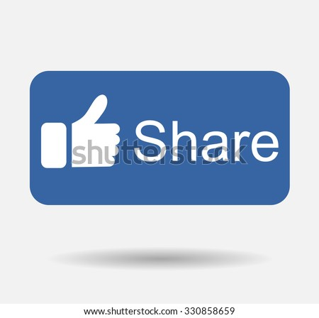 blue button share share icon