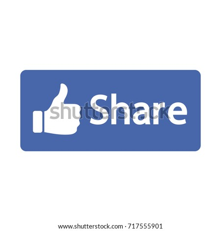 Blue Button Share Vector