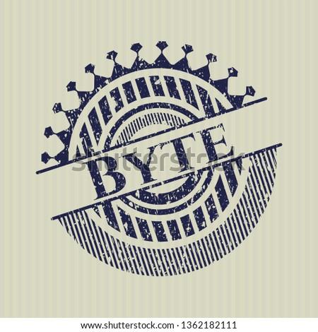 Blue Byte distress rubber stamp