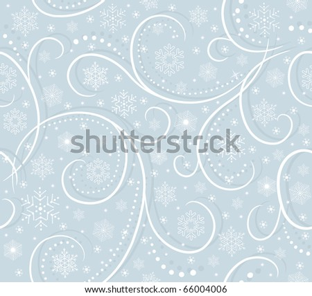 blue card with snowflakes