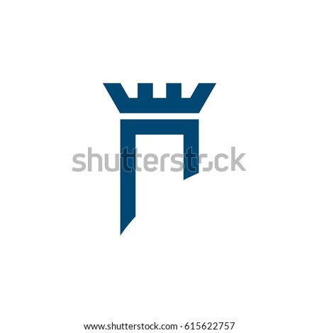 blue castle vector logo