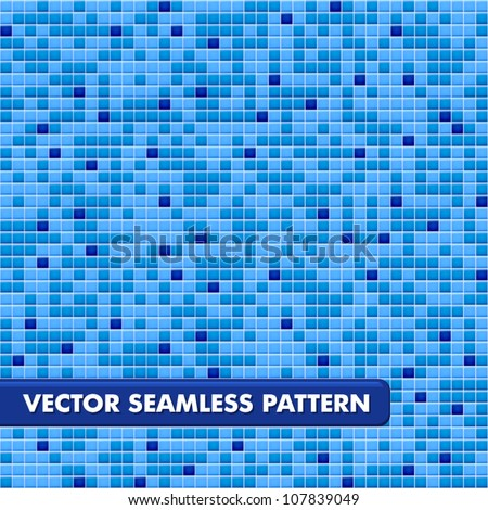 Blue ceramic tile mosaic in swimming pool - seamless texture