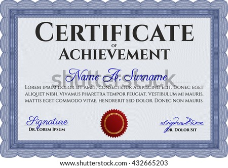 Modern blue certificate and award design template download free blue certificate complex design printer friendly detailed yadclub Choice Image