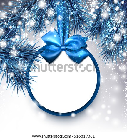 stock-vector-blue-christmas-background-with-fir-branches-and-bow-vector-illustration