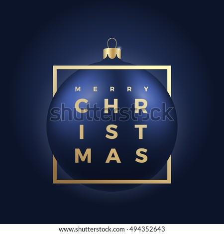 blue christmas ball on dark