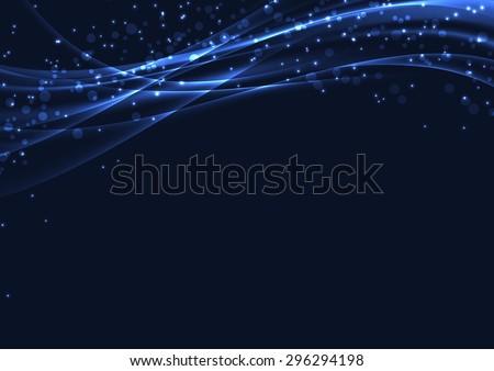 blue christmas magic abstract