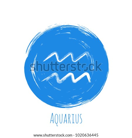 blue circle aquarius zodiac