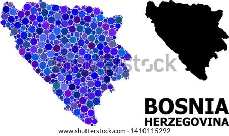 blue circle dot mosaic and